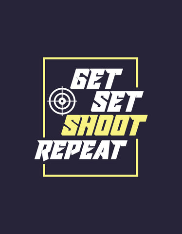 Get Set Shoot Repeat - Navy Blue Men's Graphic Boxer Short Design View
