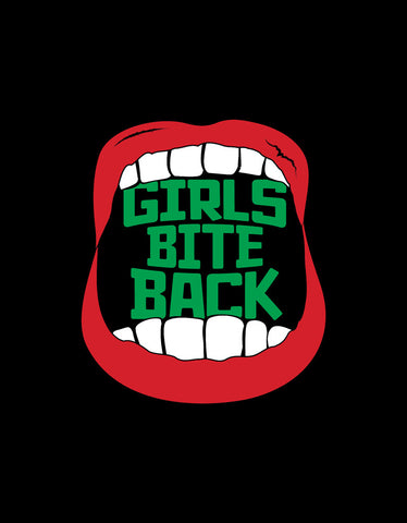 Girls Bite Back - Black Women's Trendy Boxer Short Design View