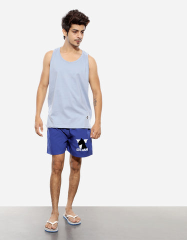 Gotham Men's Royal Blue Boxer Short (Model full front view)