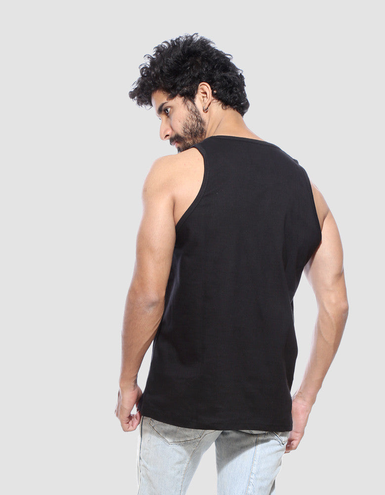 Har Har - Black Men's Sleeveless Cool Vest Model Back View