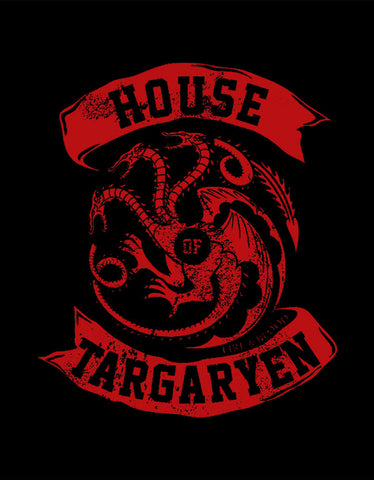 House Of Targaryen - Black Women's GOT 3/4 Sleeve Trendy T Shirt  Design View