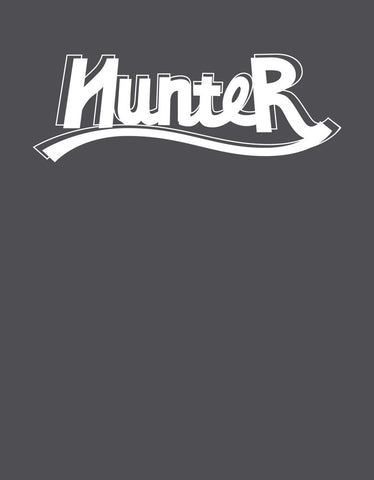 Hunter - Charcoal Grey Men's Full Sleeve Graphic T Shirt Design View