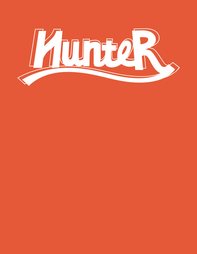Hunter - Rust Orange Men's Full Sleeve Graphic T Shirt Design View