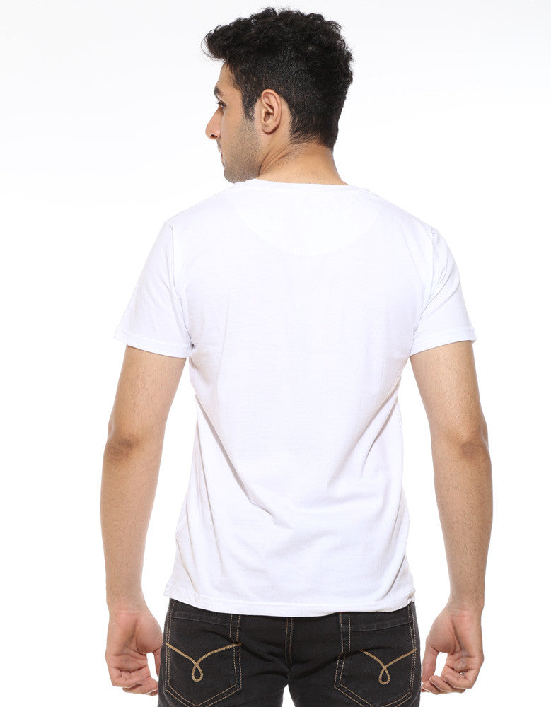 Goddamn Bat -  White Men's Superhero Half Sleeve Designer T Shirt (Model back view)