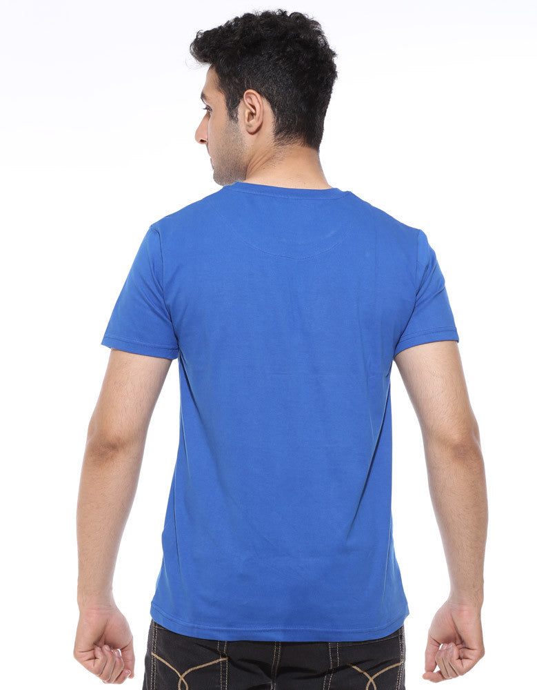 Hope -  Royal Blue Men's Superhero Half Sleeve Cool T Shirt (Model back view)