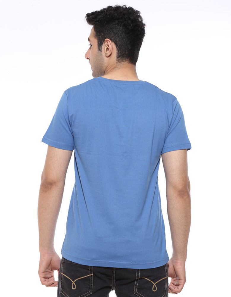 Boy Who Lived - Dark Shadow Blue Men's Superhero Half Sleeve Trendy T Shirt (Model back view)