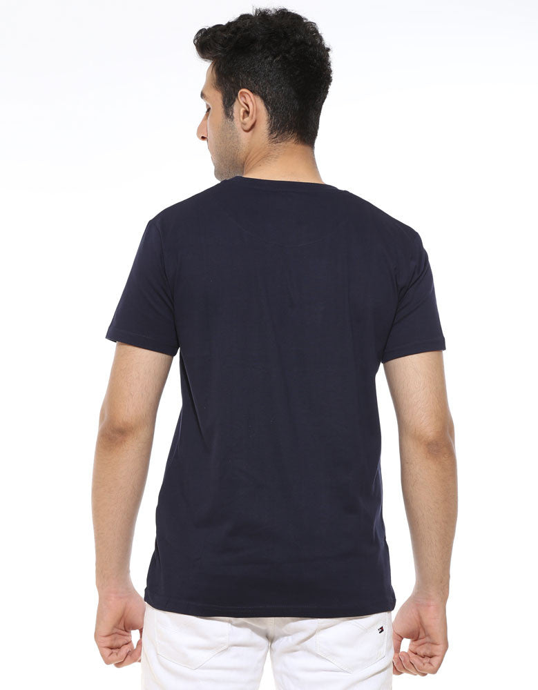 King In The North -  Navy Blue Men's GOT Half Sleeve Trendy T Shirt (model back view)
