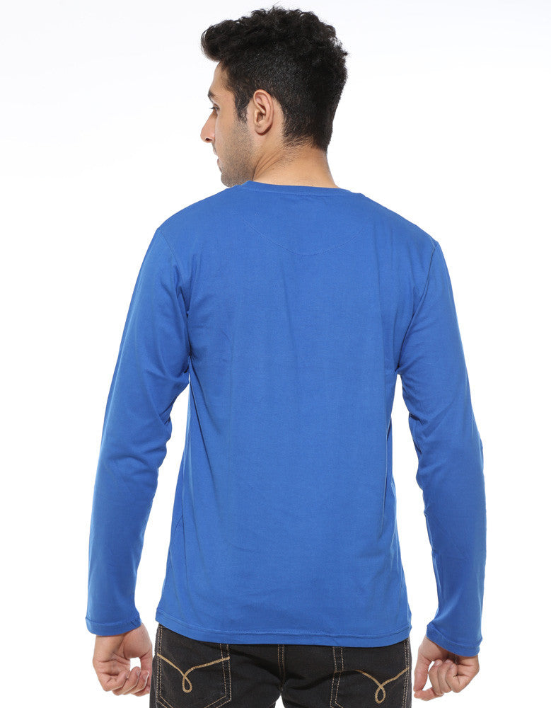 Hope - Royal Blue Men's Superhero Full Sleeve Cool T Shirt Model Back View