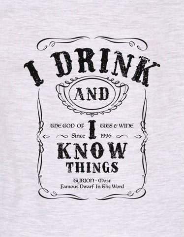 I Know Things - White Melange Women's GOT 3/4 Sleeve Graphic T Shirt Design View
