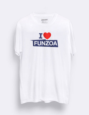 7723e83ecd3 Funzoa White Men s White Graphic T Shirt by AMAZZY