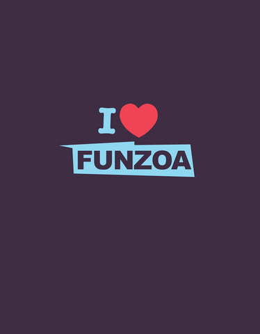 I Love Funzoa Brinjal 3/4 Sleeve T shirt for Women