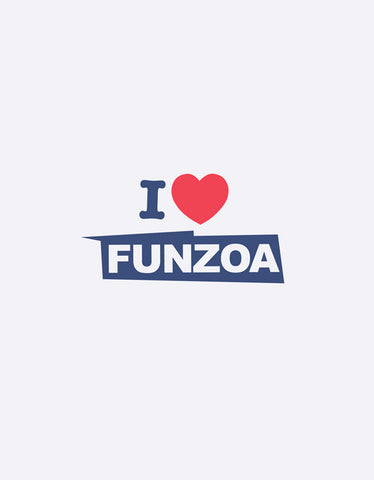 I Love Funzoa White Melange 3/4 Sleeve T shirt for Women