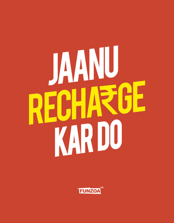 Jaanu Recharge Funzoa Rust Orange Women's T shirt