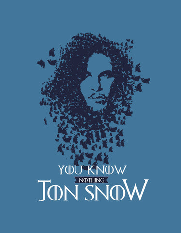 Jon Snow - Iris Blue Women's GOT 3/4 Sleeve Trendy T Shirt Design View