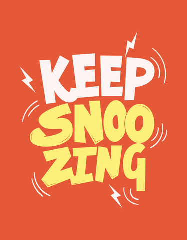 Keep Snoozing - Rust Orange Men's Full Sleeve Printed T Shirt Design View