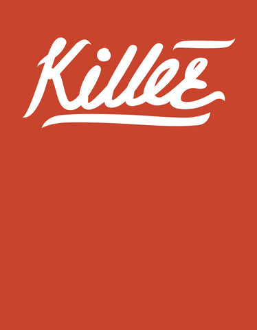 Killer - Rust Orange Women's 3/4 Sleeve Trendy T Shirt Design View
