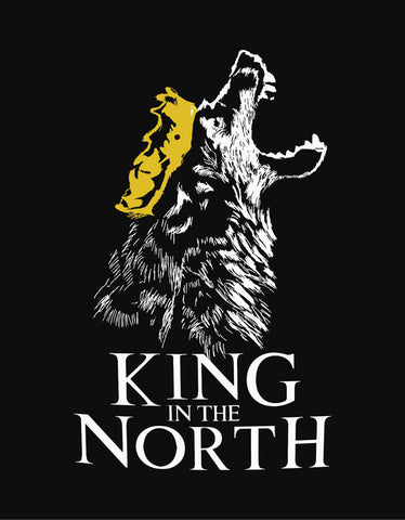 King In The North - Black GOT Designer Men's Full Sleeve T Shirt Design View