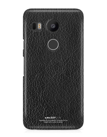 Black Leather Texture - Nexus 5x Phone Cover