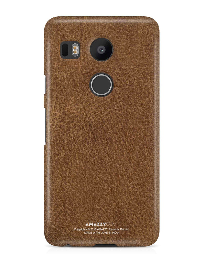 Brown Leather Texture - Nexus 5x Phone Cover