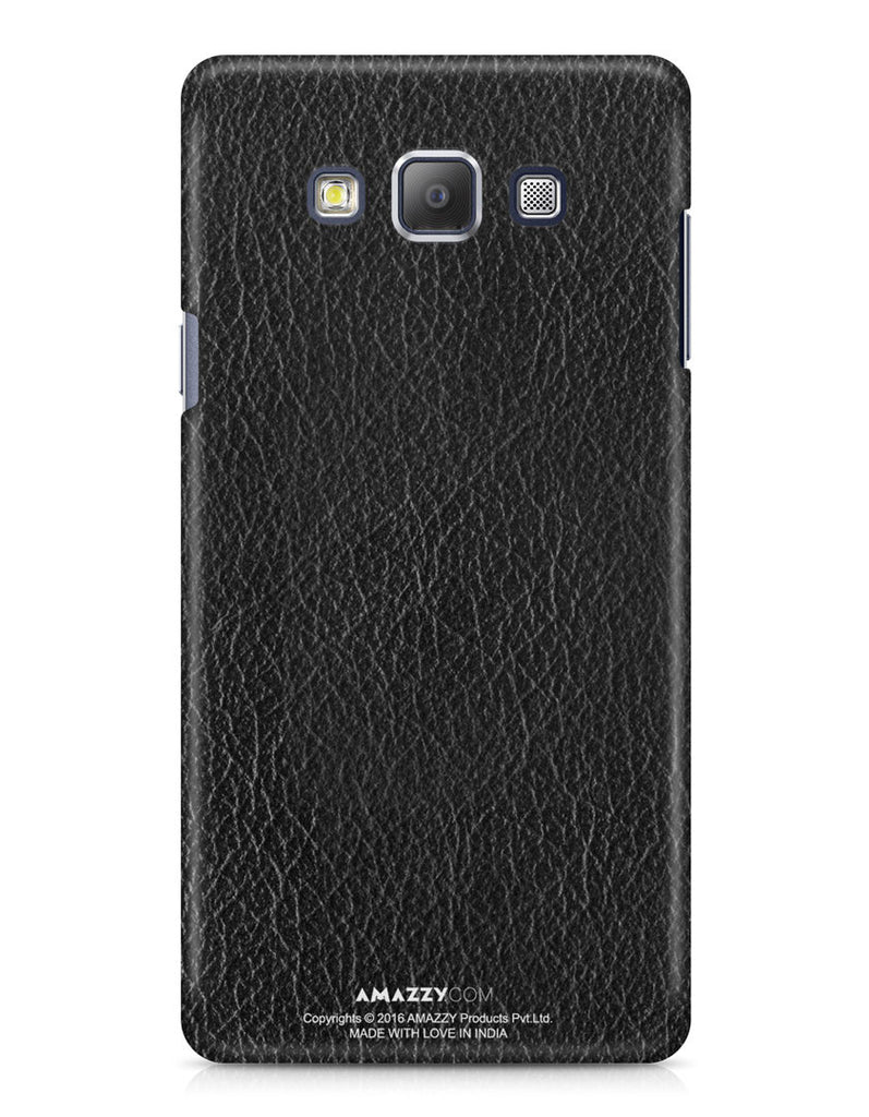 Black Leather Texture - Samsung A7 Phone Cover