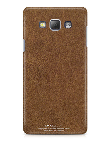 Brown Leather Texture - Samsung A7 Phone Cover