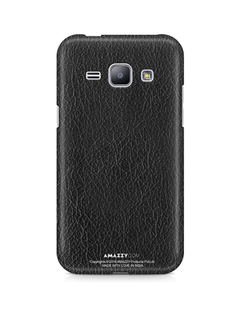 Black Leather Texture - Samsung J1 Phone Cover