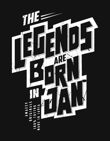 e268f44a9 Legends Are Born In January - Black Trendy Men's Half Sleeve T shirt