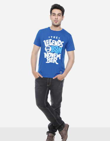 Legends Are Born In November - Royal Blue Trendy Men's Half Sleeve T shirt
