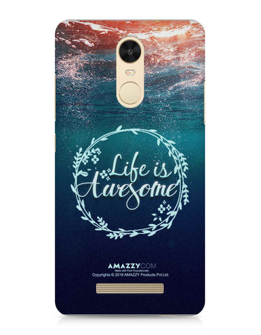 LIFE IS AWESOME - Xiaomi Redmi Note3 Phone Cover View