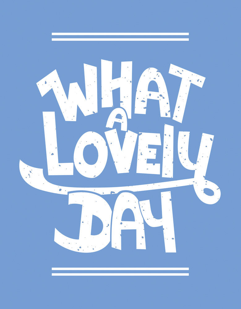 What A Lovely Day - Blue Melange Men's Half Sleeve Trendy T Shirt Design View