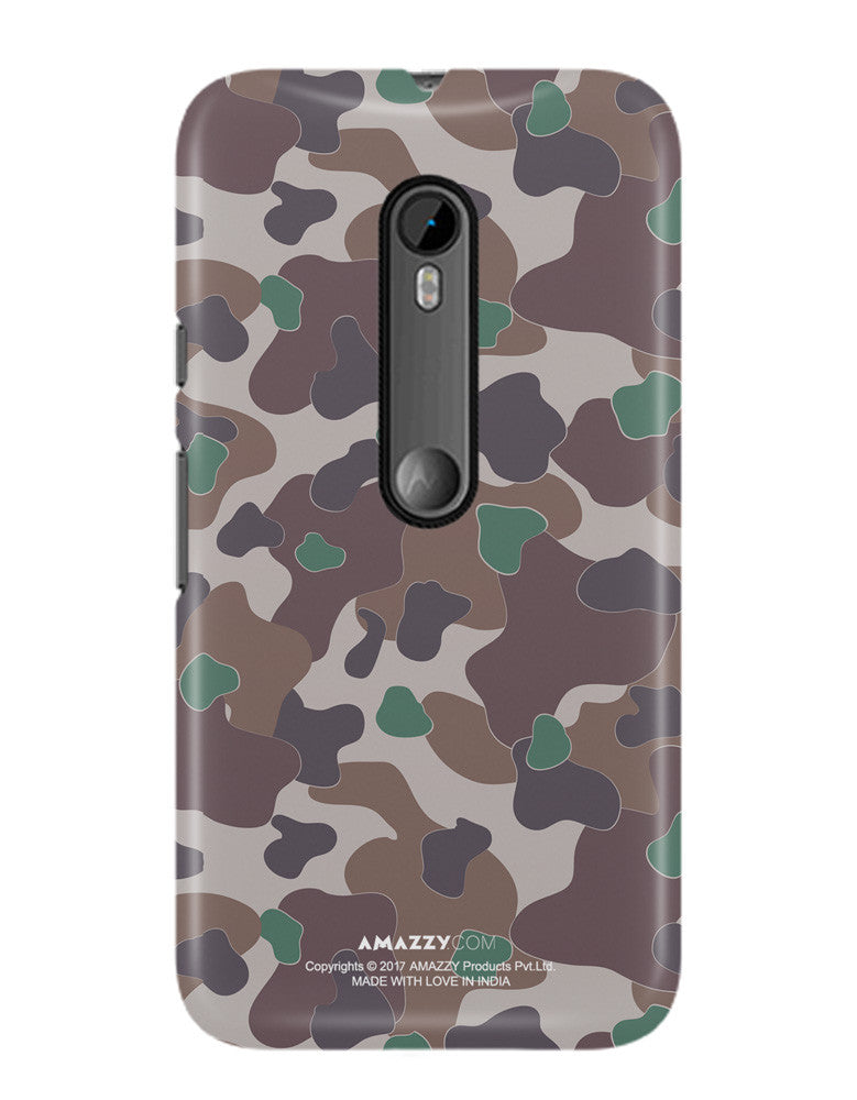 MILITARY CAMOUFLAGE PATTERN - Moto G3 Phone Cover View