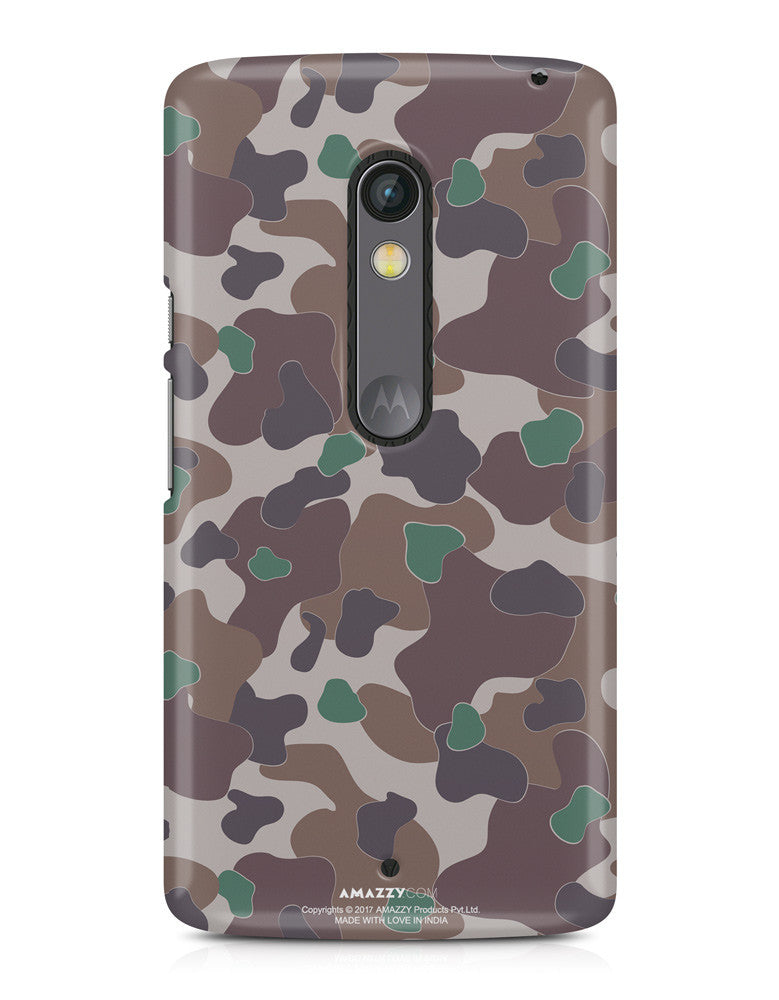 MILITARY CAMOUFLAGE PATTERN - Moto X Play Phone Cover View