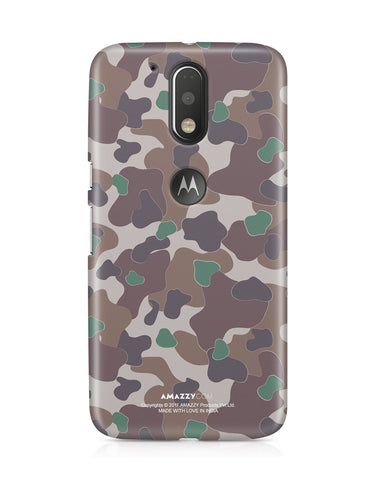 MILITARY CAMOUFLAGE PATTERN - Moto G4 Plus Phone Cover View