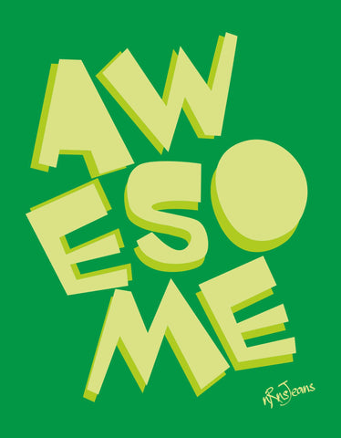 Awesome - Green Women's Random Short Sleeve Graphic T Shirt Design View
