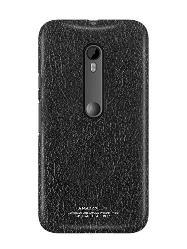 Black Leather Texture - Moto G3 Phone Cover