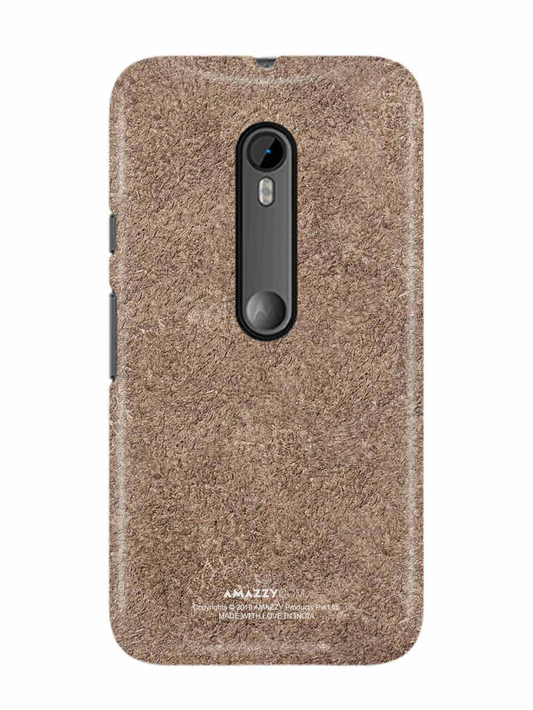 Bronze Leather Texture - Moto G3 Phone Cover View