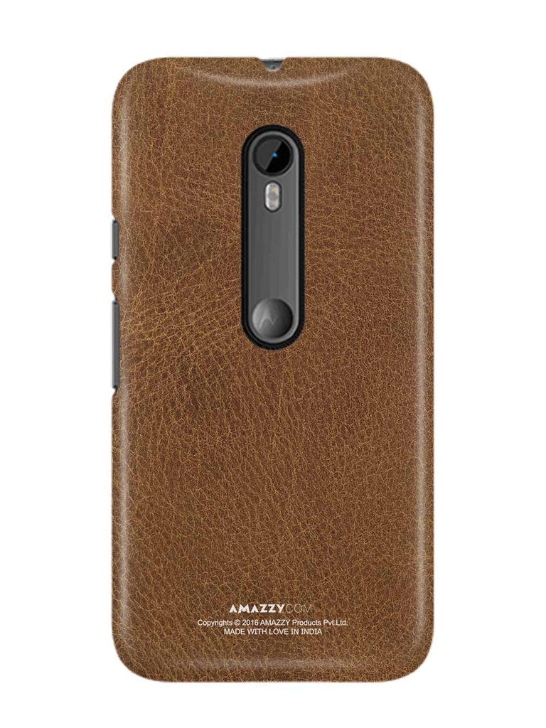 Brown Leather Texture - Moto G3 Phone Cover View