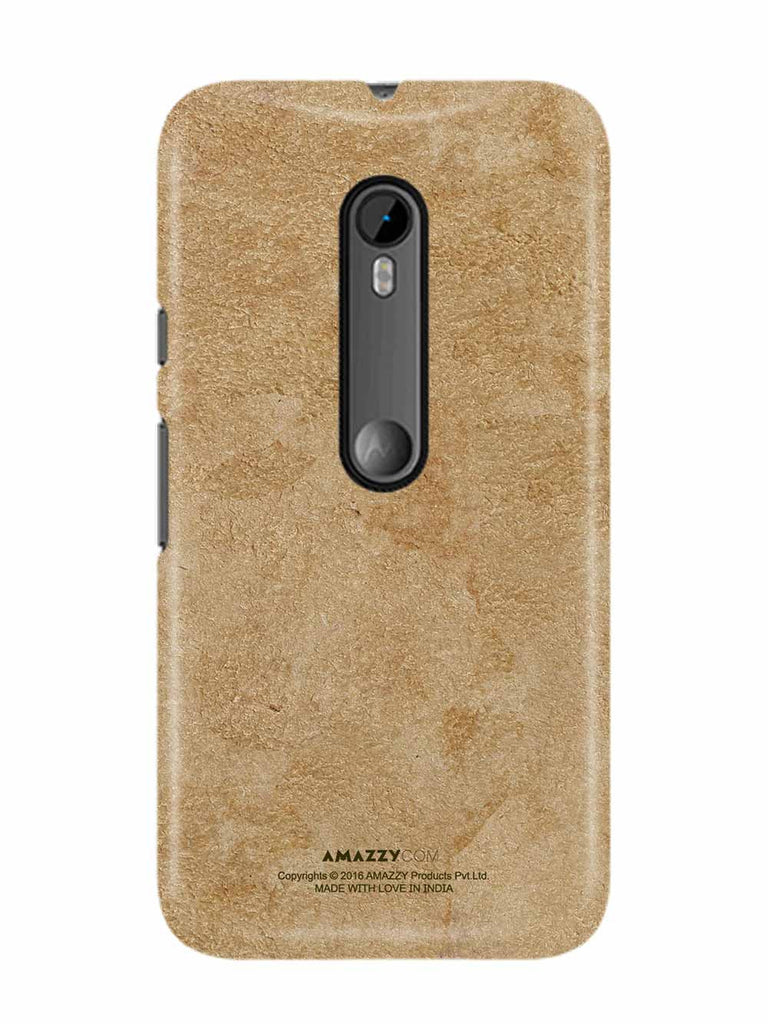 Gold Leather Texture - Moto G3 Phone Cover View