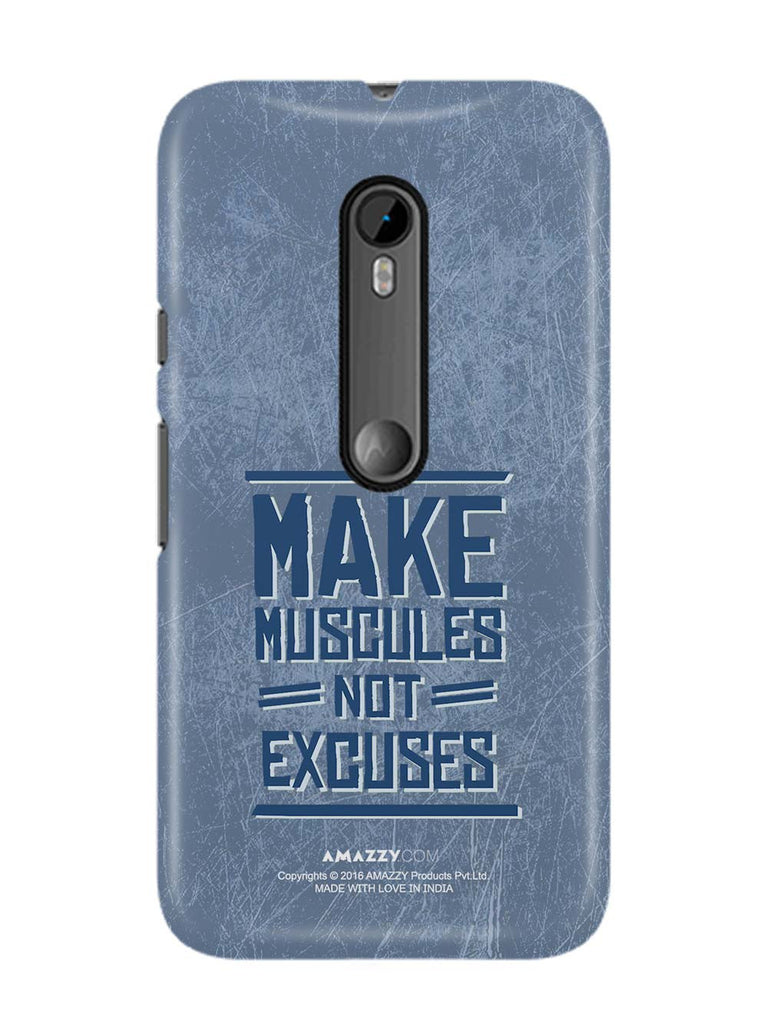 MAKE MUSCULE - Moto G3 Phone Cover View