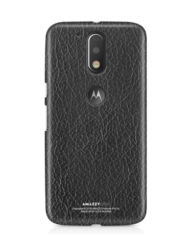 Black Leather Texture - Moto G4 Plus Phone Cover