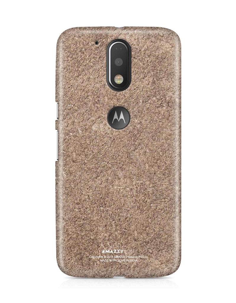 Bronze Leather Texture - Moto G4 Plus Phone Cover View