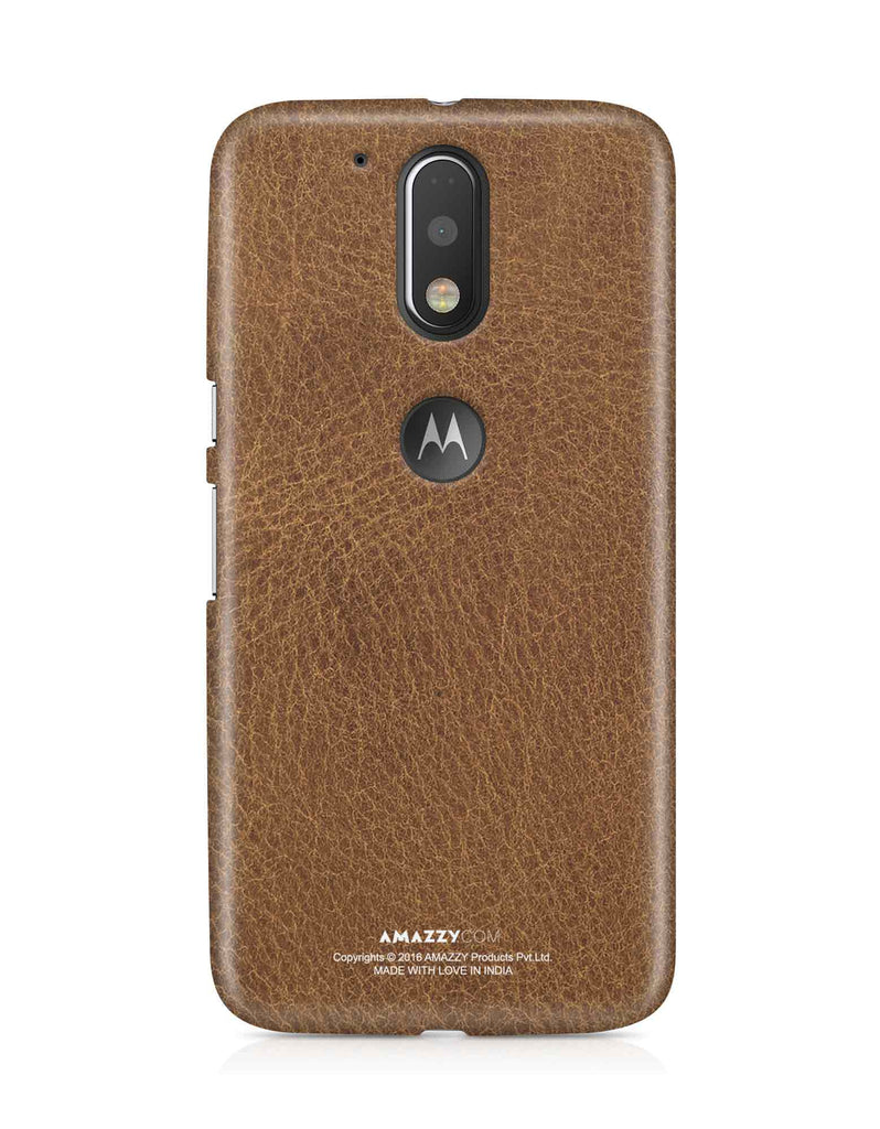 Brown Leather Texture - Moto G4 Plus Phone Cover View