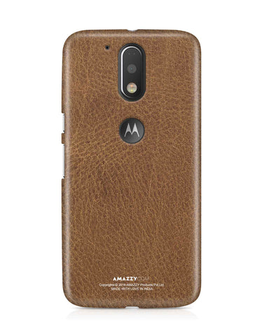 Brown Leather Texture - Moto G4 Plus Phone Cover