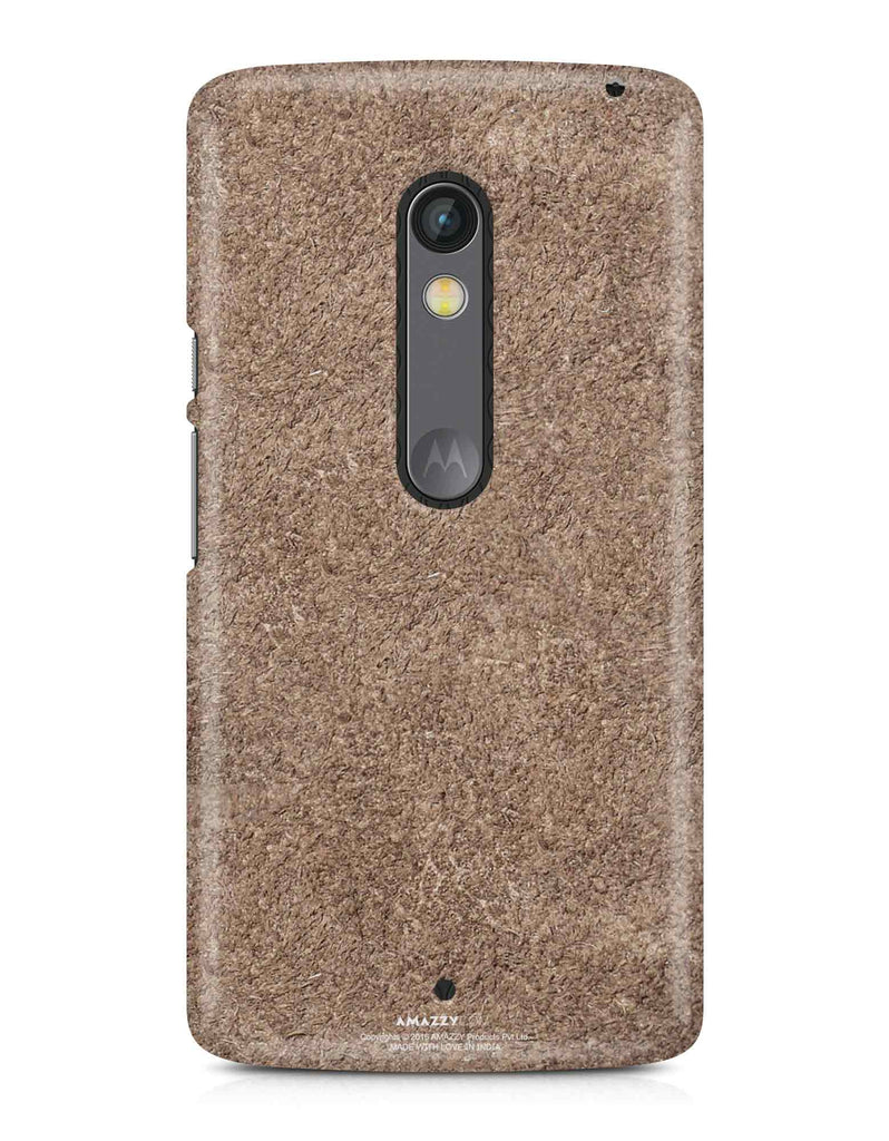 Bronze Leather Texture - Moto X Play Phone Cover View
