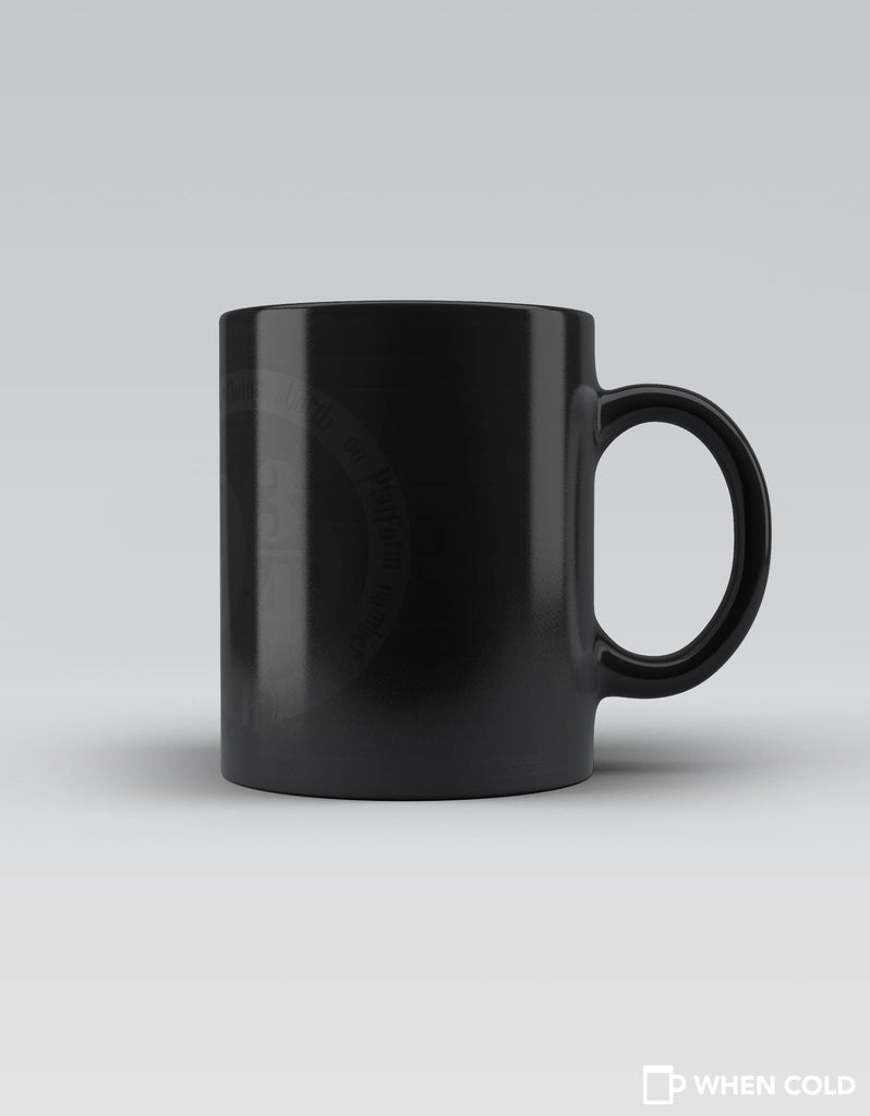 Platform 9 3/4 - Grey Superhero Magic Mug Back View