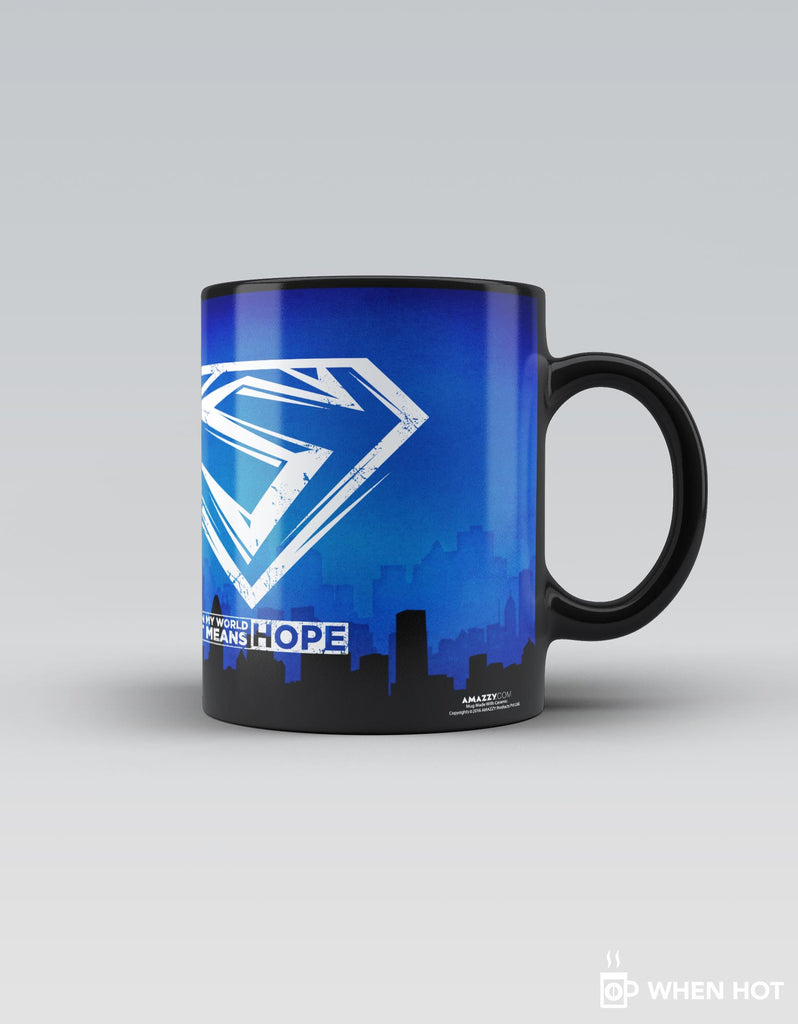 Hope - Blue Superhero Magic Mug Right Side View