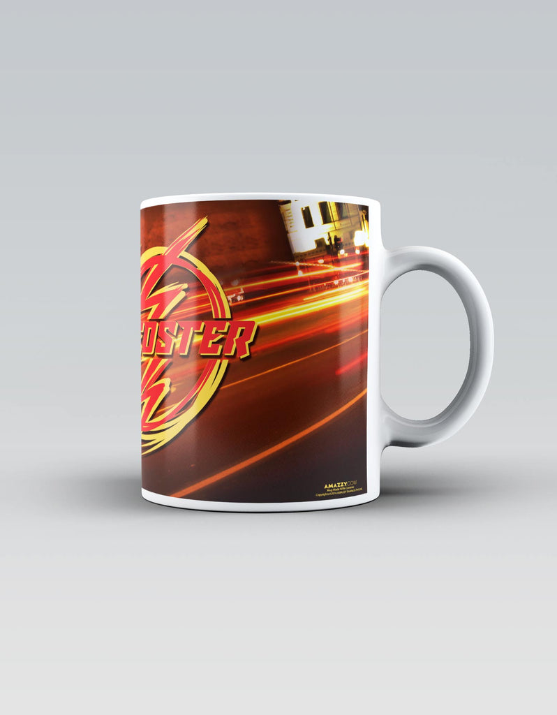 Speedster - Red Superhero Ceramic Mug Side View