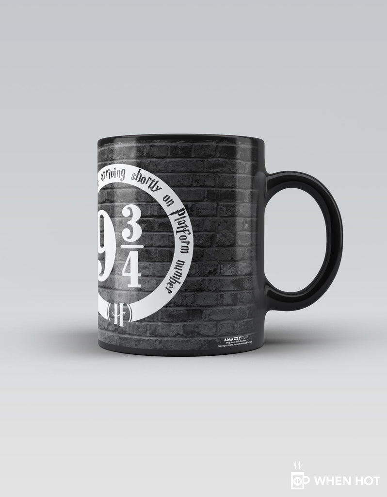 Platform 9 3/4 - Grey Superhero Magic Mug Right Side View