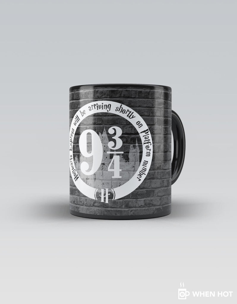 Platform 9 3/4 - Grey Superhero Magic Mug Front View