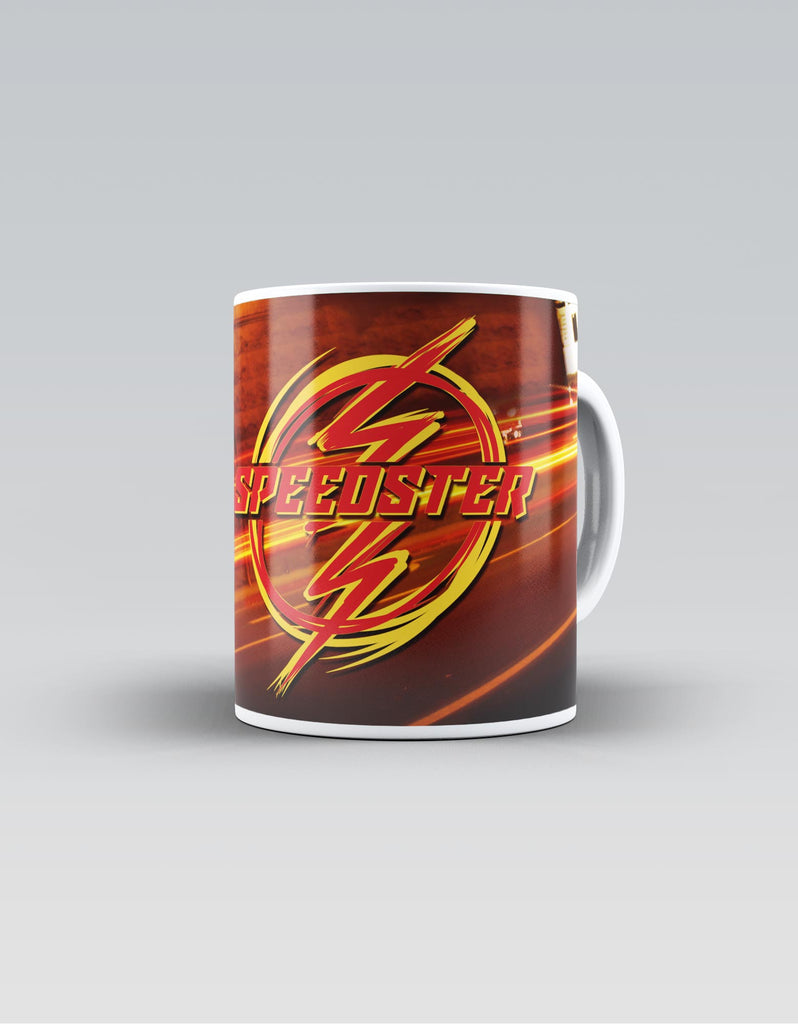 Speedster - Red Superhero Ceramic Mug Front View